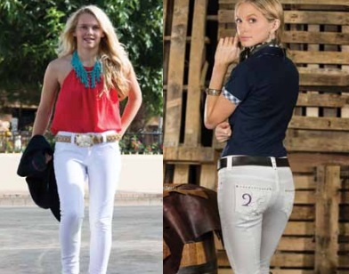 2KGrey Pas OP White Riding Breeches