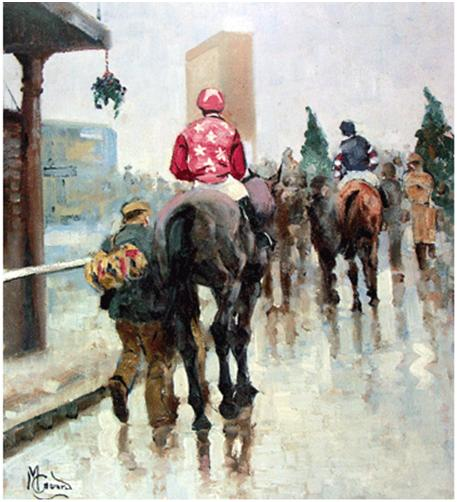 """Coming In Cheltenham"" Print - Malcom Coward"
