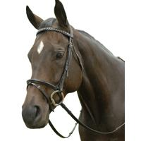 Exselle® Elite Plain Raised Event/Dressage Bridle