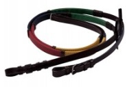 Exselle Elite Rubber Grip Rainbow Reins