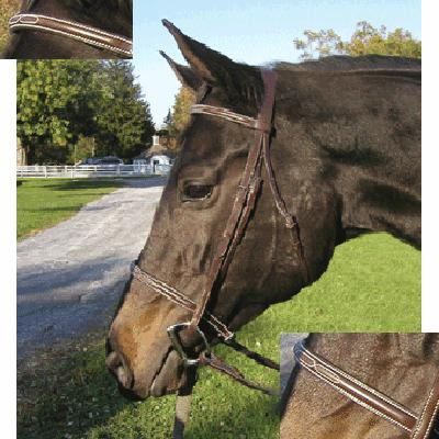 Exselle® Raised Fancy Stitch Bridle