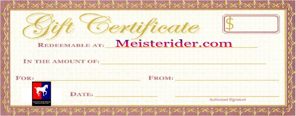 A Great Present - Gift Certificate