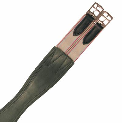 Inlay Shaped Leather Girth
