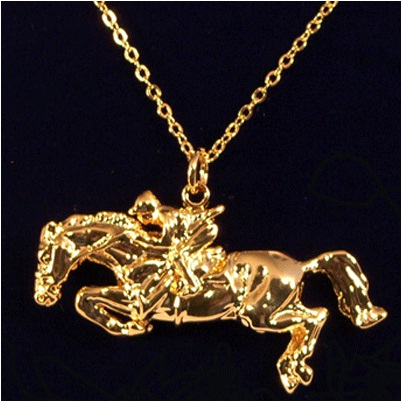 Jumper Rider Pendant by Exselle