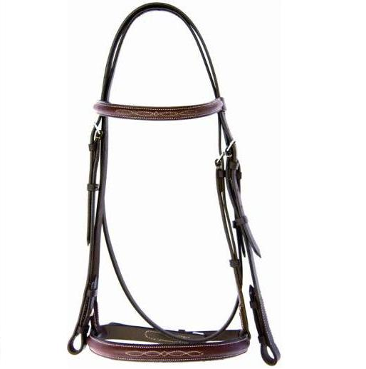 Pro-Am® Raised Snaffle Bridle w/Fancy Stitching