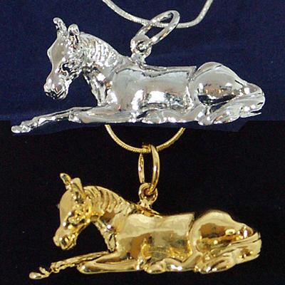 Resting Foal Pendant by Exselle®
