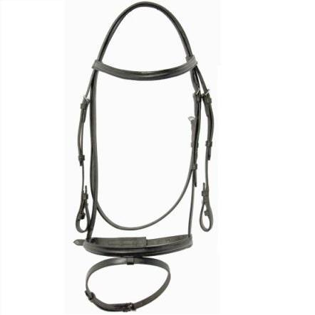 Shannon® Raised Snaffle Bridle w/Flash